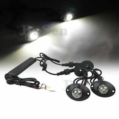 $37.99 • Buy 2in1 Hideaway White 12W LED Emergency Patrol Truck Vehicle Warning Strobe Light