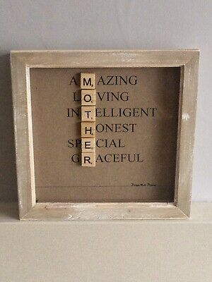 Mother - Scrabble Picture Frame, Handmade • 18.50£