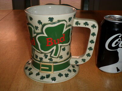 $ CDN53.34 • Buy BUDWEISER BEER- ST. PATRICK'S DAY TIP O' THE HAT, Handcrafted Ceramic Beer Stein