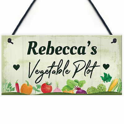 PERSONALISED Vegetable Plot Allotment Sign Shed Signs Garden Signs And Plaques • 6.99£