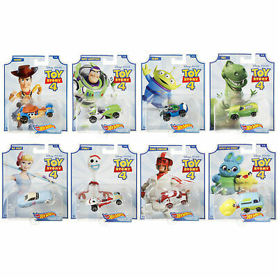 Disney Pixar Toy Story 4 Hot Wheels 1:64 Character Cars *CHOOSE YOUR FAVOURITE* • 4.99£