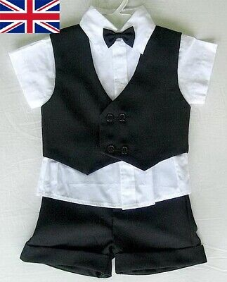 £14.99 • Buy BABY BOY OUTFIT Black Special Occasion Wedding SUIT Business Boy Formal Clothing