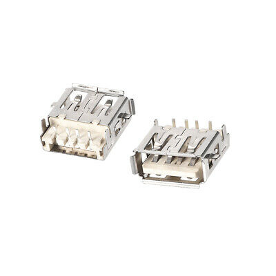 $7.51 • Buy 50PCS USB 2.0 Type A Female Socket Connector  4-Pin DIP 90 Degree Adapter
