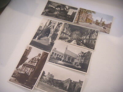 7 Vintage Oxford Colleges Real Photo Postcards Balliol, New , Merton,  Radcliffe • 14.99£