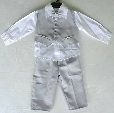 £15.99 • Buy BABY BOY OUTFIT Light Grey Special Occasion Suit Wedding Christening Clothing