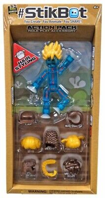 Stikbot Action Pack Hair Styling Role Play Accessory Set [Blue] • 21.45£