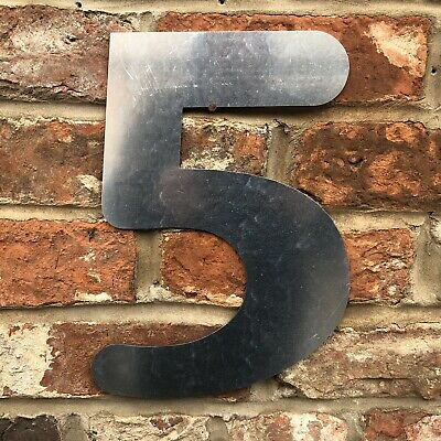£11.99 • Buy 5 Lettering Numbers GALVANIZED Metal Shop Home Sign Rustic Words Bar Cafe Pub