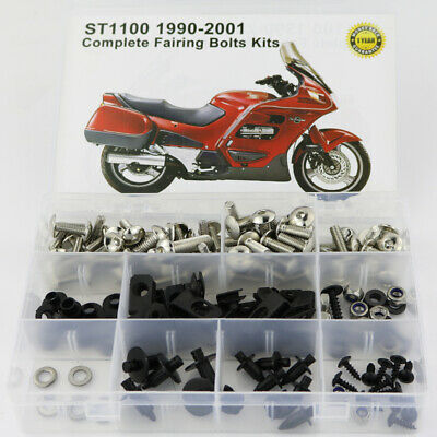 £20.52 • Buy Fairing Bolts Fasteners Kit Fit For 1990-2002 Honda ST1100 1995 1996 97 Silver