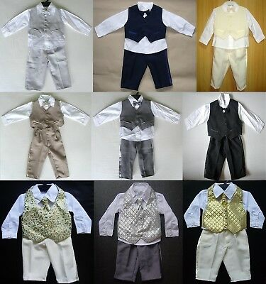 £15.99 • Buy BABY BOY OUTFITS SUIT Wedding Christening Clothing Special Occasion MANY COLOURS