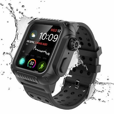 $17.66 • Buy Case For Apple Watch Series 4 5 6 44mm Shockproof Full Body Rugged Strap Band