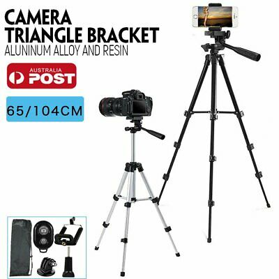 AU18.50 • Buy Professional Camera Tripod Stand Mount + Phone Holder For Phone IPhone Samsung