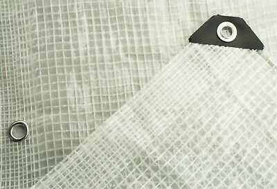£7.34 • Buy Clear Reinforced Tarpaulin, Ground Sheet Waterproof Covering Small & Large Sizes