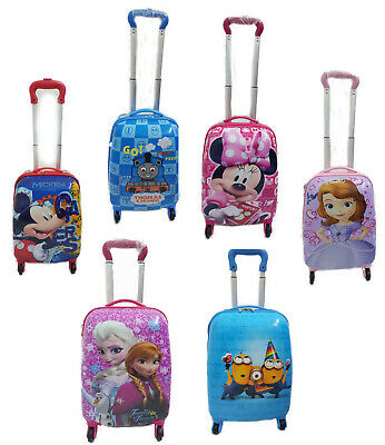 £42.99 • Buy Hard Shell Kids Character Holiday Luggage 4 Wheels Trolley Suitcase Cabin Bag UK