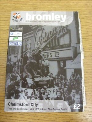 £2.99 • Buy 02/09/2008 Bromley V Chelmsford City  . Thank You For Viewing This Item, We Alwa