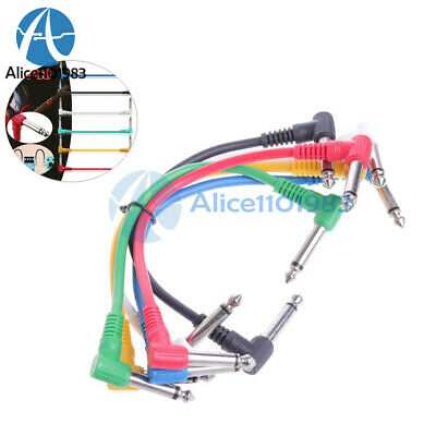 $ CDN7.60 • Buy 6Pcs/Set Colorful Angled Plug Audio Leads Patch Cables For Guitar Pedal Effect