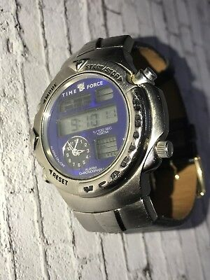 Time Force 9004 Alarm Chronograph Watch 10atm Water Resistant  • 38£