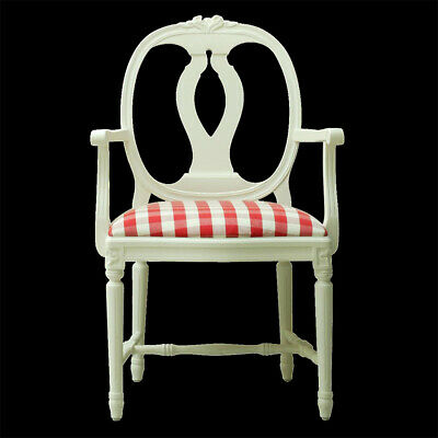 Gustavian Rosen Arm Chair Dining Chair Carver - Available Painted Or Raw Mango • 457£