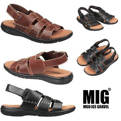 Mens Leather Classic Gladiator Sandals By MIG In Size 6 To 12 UK - MLS-005 • 24.99£