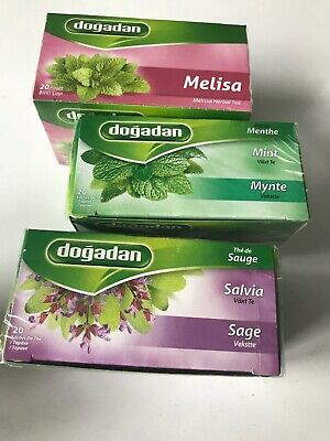 Herbal Tea Bags -Melissa ( Lemon Balm) Tea- Sage Tea- Mint Tea- Each 20 Tea Bags • 13.10£