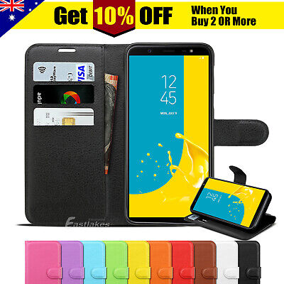 AU7.95 • Buy For Samsung Galaxy A20 A30 J8 J2 J5 Pro Wallet Leather Case Magnetic Flip Cover