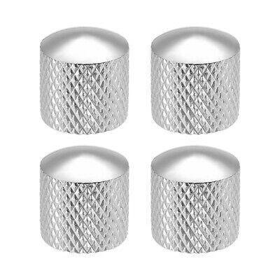 $ CDN11.62 • Buy 6mm Metal Potentiometer Knobs For Guitar Bass Volume Tone Silver Tone 4pcs