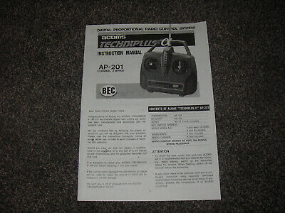 Copy Of Instructions / Manual For ACOMS Techniplus AP-201 Transmitter • 3.75£