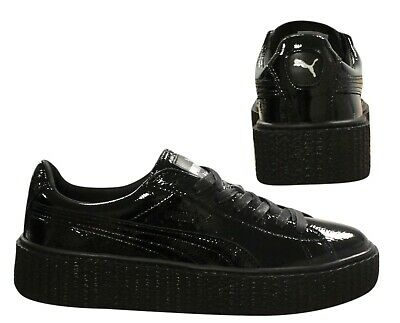 3f8b66023 Puma X Fenty Rihanna Creeper Wrinkled Patent Womens Trainers Black 364465  U26 • 45.21€