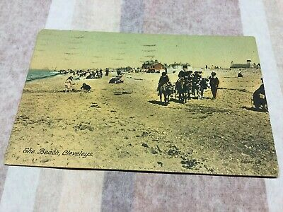 £4 • Buy Old Postcard  Promenade And Beach Cleveleys