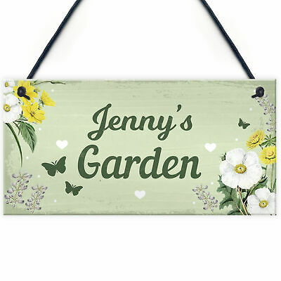 Personalised Garden Hanging Sign Backyard Allotment Shed Sign SummerHouse Plaque • 5.99£