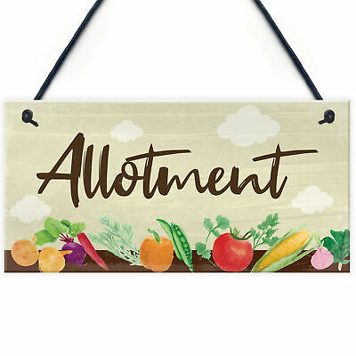 Allotment Sign For Garden Shed Sign Garden Sign Summer House Plaque Gift For Him • 3.99£