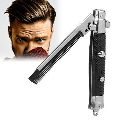 $ CDN7.32 • Buy Automatic Push Button Folding Comb Barber Switch-blade Pocket Knife Looks Brush