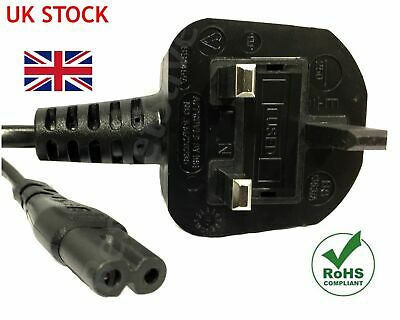 1.8M C7 Figure 8 Power Cord UK 3 Pin Plug To Power Lead Fig 8 Power Cable Mains • 3.99£