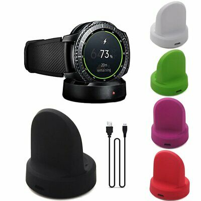 AU12.20 • Buy Wireless Smartwatch Base Charger For Samsung Galaxy Gear S3 Classic/Frontier HL