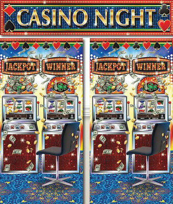 $9.75 • Buy CASINO Scene Setter Gambling Party Wall Decoration Photo Backdrop Slot Machines