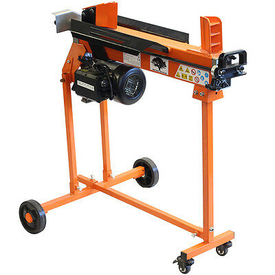 5 Ton Electric Log Splitter Wood Hydraulic Cutter With Caster Stand And Duoblade • 374.90£