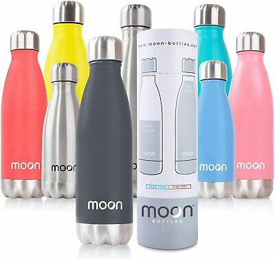 Moon Bottle – Double Walled, Vacuum Insulated Stainless Steel Water Bottles • 16.99£