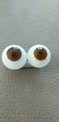 £11 • Buy Seconds Glass Blown Doll Eyes In Brown In Various Sizes
