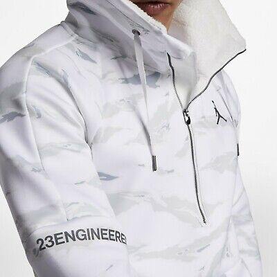 5abd77882e22db  170 MEDIUM Jordan Sportswear Flight Tech Sherpa Anorak Jacket White  AH6163-121 • 77.77