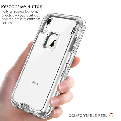 AU8.98 • Buy For IPhone X XS Max 7 8 11 Pro Clear Hybrid Defender Armor Shockproof Case Cover