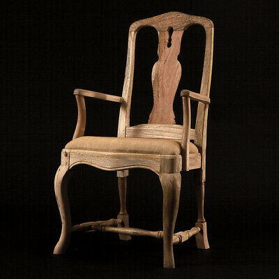 Barock Carver Dining Chair In Solid Mango Wood - Available Painted Or Raw Wood • 465£