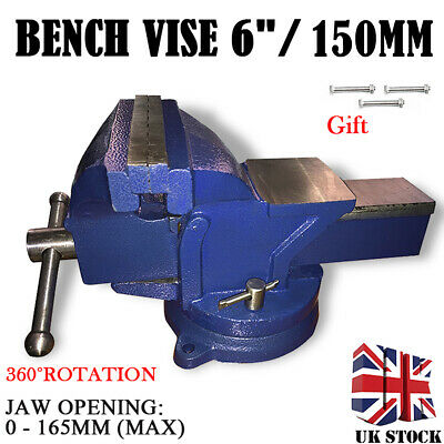6  150mm Heavy Duty Engineers Vice Vise Swivel Base Workshop Clamp Bench Tool UK • 28.98£