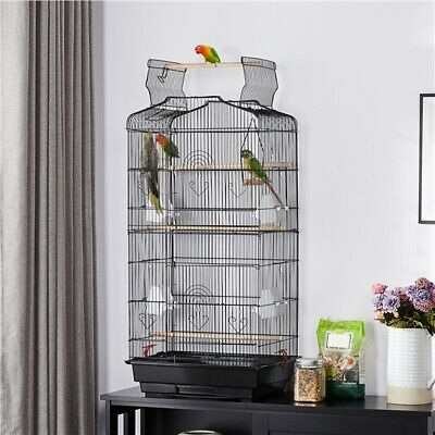 £35.59 • Buy 104cm Open Top Large Bird Cage Parrot Cage For Budgie Canary Cockatiel Black