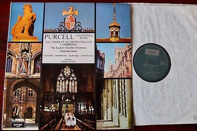 Argo Zrg 724 Purcell Ceremonial Music Lp St John's College Guest Nm- England • 2.99£