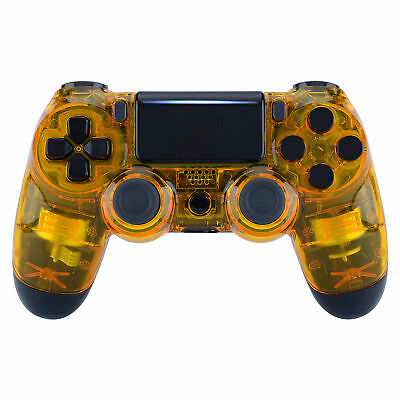 AU22.43 • Buy Custom Crystal Yellow Upper Housing Shell Faceplate For PS4 Slim Pro Controller