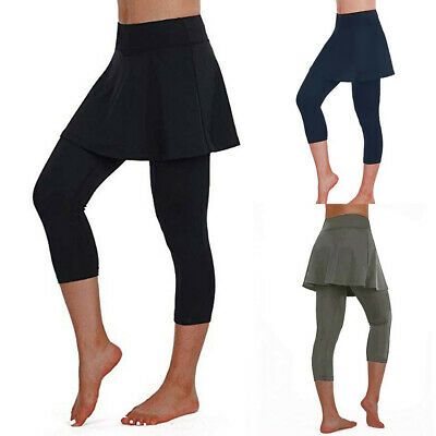 Women Casual Skirt Leggings Tennis Pants Sports Fitness Yoga Cropped Culottes UK • 4.69£