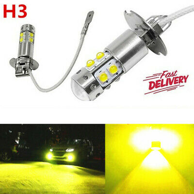 AU23.69 • Buy 2x H3 Led Cree Yellow Headlight Fog Driving Light Bulb Car Ute 4wd Lamp Globe
