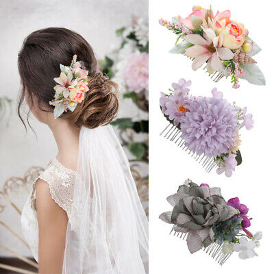 $ CDN4.91 • Buy Women's Boho Flower Hair Comb Pins Headband Bridal Wedding Hair Accessories