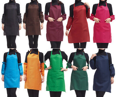 £3.99 • Buy Plain Apron With Front Pocket For Chefs Butchers Kitchen Cooking Craft UK Baking