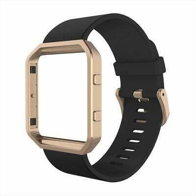 AU44.33 • Buy For Fitbit Blaze Bands Silicone Replacement Watch Band Strap W/ Rose Gold Frame.