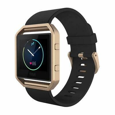 AU38.70 • Buy For Fitbit BLAZE Band Silicone Replacement Watch Band Strap With Rose Gold Frame